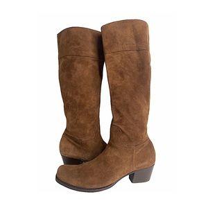 MIU MIU Calf Skin Western Knee Boots Square Toe 11